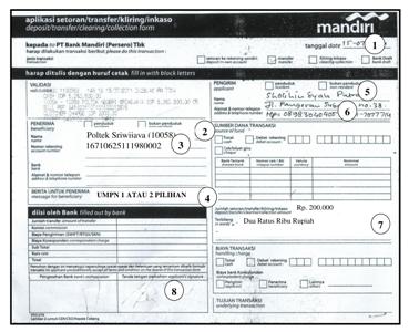 Tata Cara Pembayaran Pmb Pdd Politeknik Negeri Sriwijaya